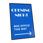 sign with directions to box office