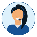 customer service representative speaking over the phone to a customer
